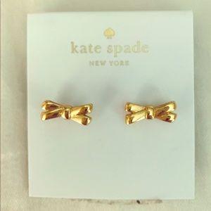 Kate Spade gold bow earrings